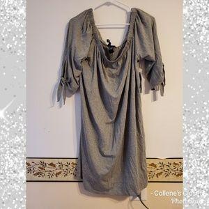New Gray off the shoulder dress 3X